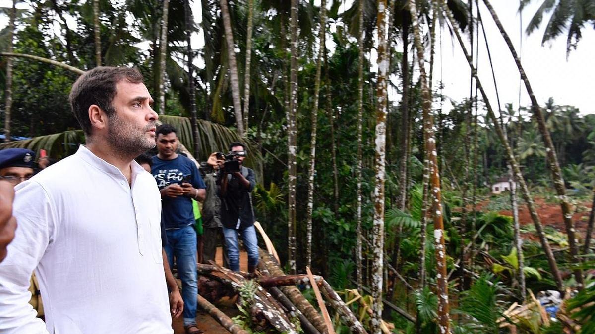 Rahul Gandhi visits Kavalapara in flood-hit Wayanad