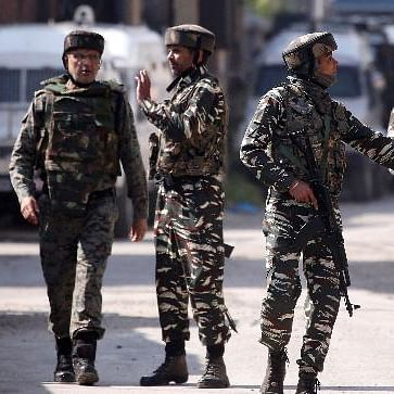 Jammu and Kashmir has been under heavy security cover for the last few days and curfew is clamped in most parts (file photo).