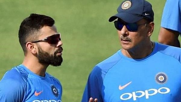 Ravi Shahstri with Virat Kohli (PTI photo)