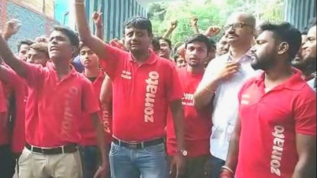 Pay-cut main plank of protest by Zomato men, not beef & pork