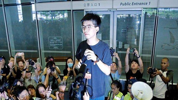 Leading Hong Kong democracy activist Joshua Wong arrested: Party