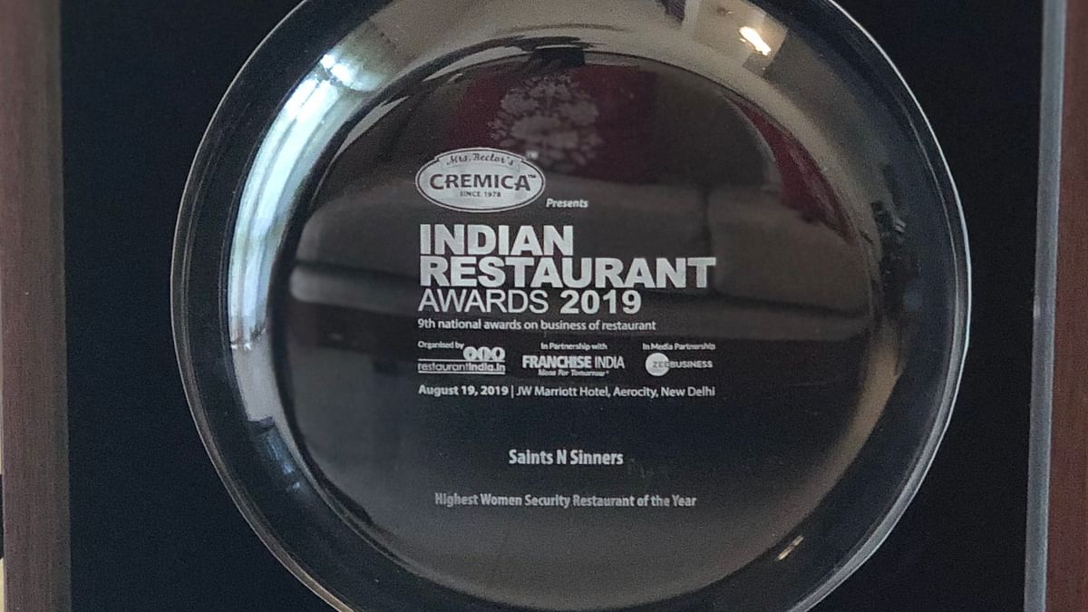 Saints N Sinners bags  'Highest Women Security Restaurant' of the Year
