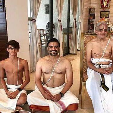 R Madhavan shares Avani Avittam picture