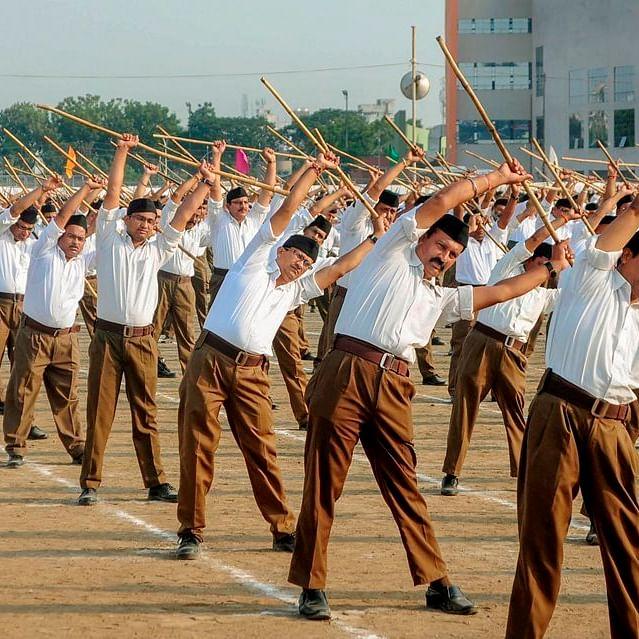 An RSS Shakha in progress (PTI file photo)