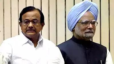 Former prime minister Manmohan Singh and former finance minister P. Chidambaram.