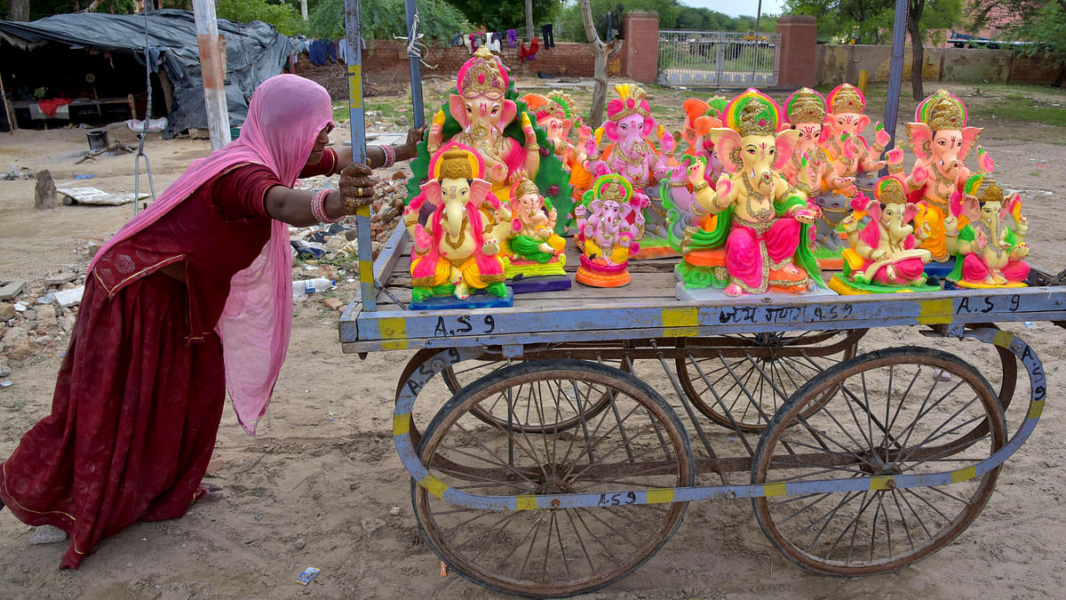 No water, no immersion of Ganesh idols in Latur