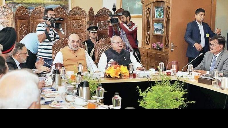 Amid Kashmir tensions, Shah chairs security meet