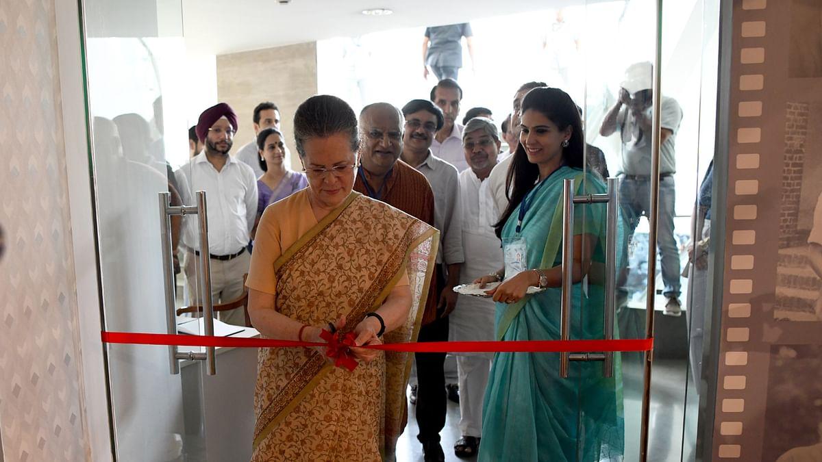Sonia Gandhi inaugurates the Memories and Archives of Rajiv Gandhi (MARG).