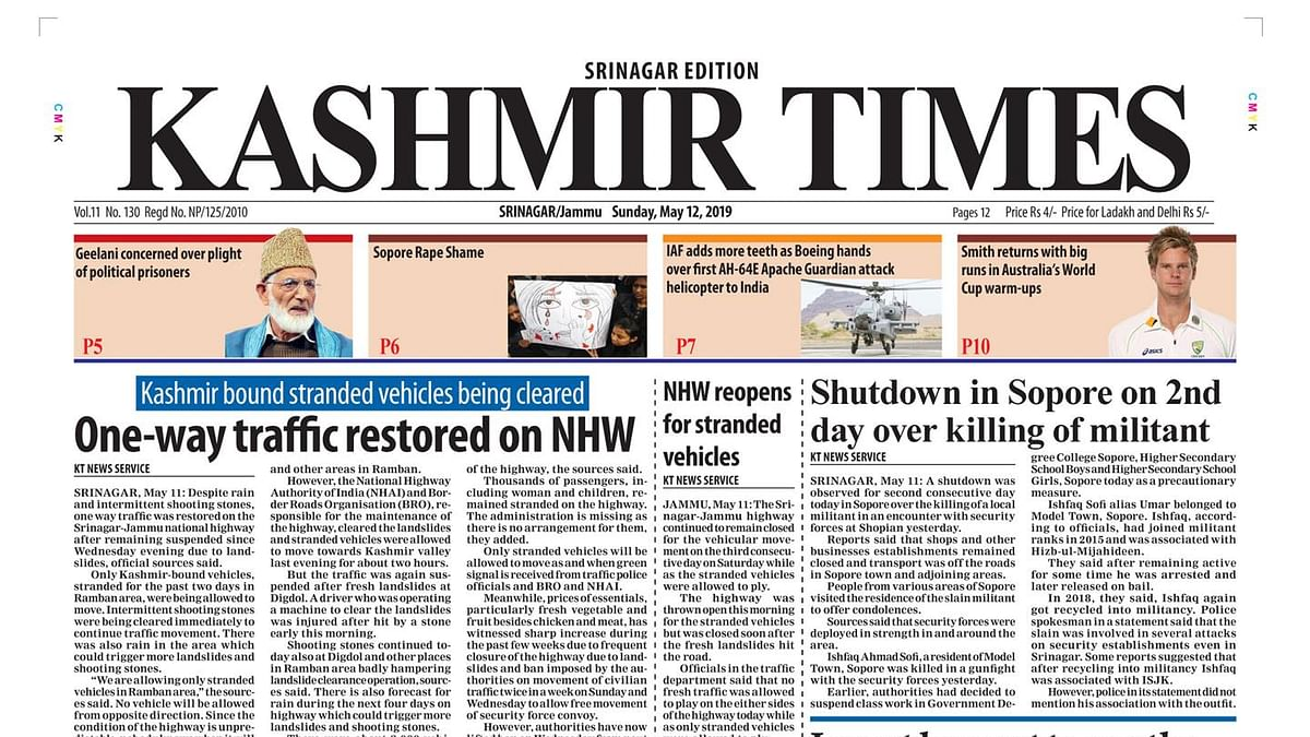 Kashmir Times editor moves SC over information blackout in Valley