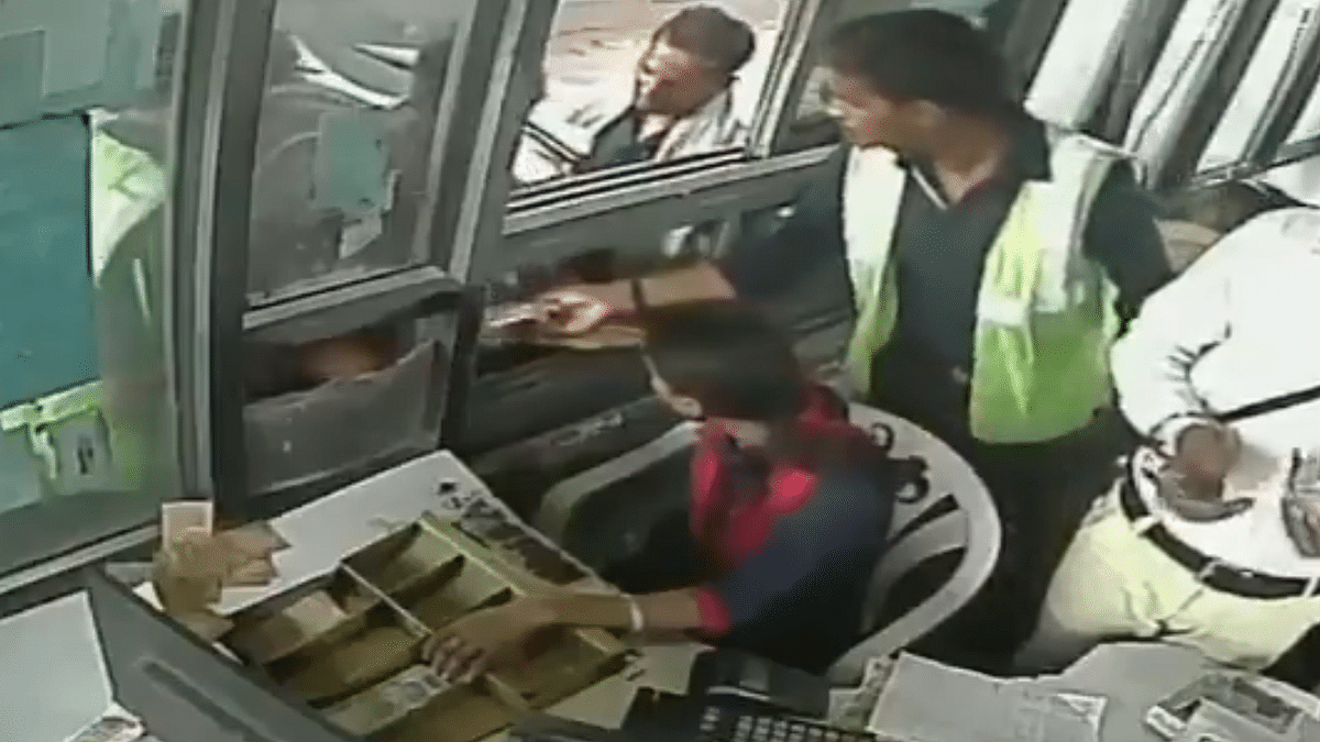 WATCH : Female toll booth operator assaulted at Kherki Daula in Gurugram