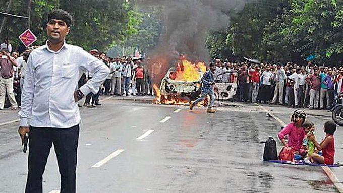 High drama in Mathura as man sets car ablaze, fires in air, arrested