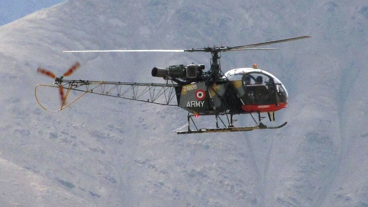 Indian Army Cheetah helicopter crashes in Bhutan, both pilots killed