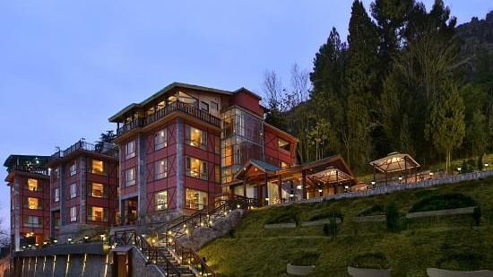 RK Sarovar Hotel in Srinagar where a media center was set up by the government
