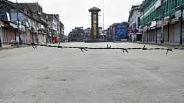 A view of the Lal Chowk in Srinagar (PTI photo)