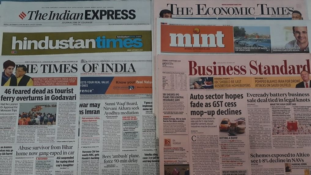 Front Pages This Morning - September 22, 2019