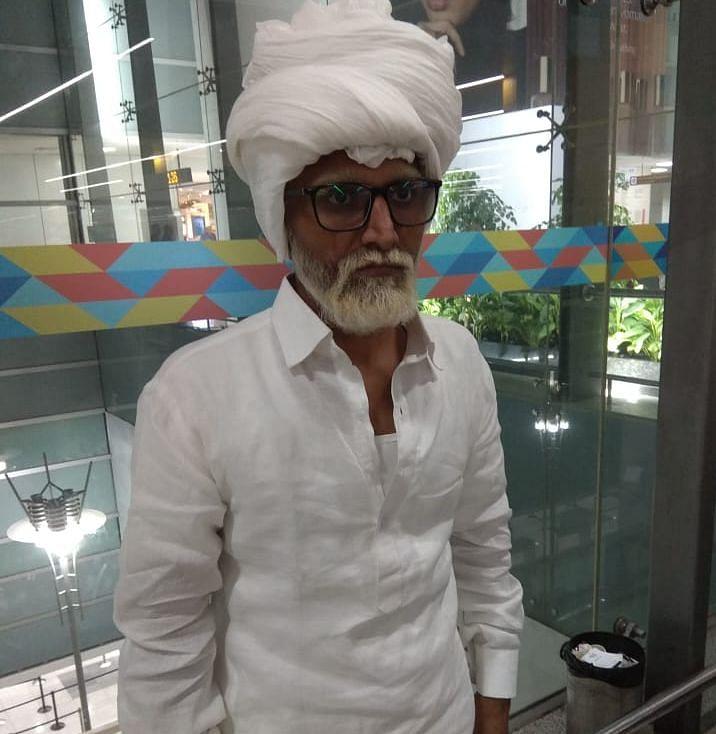 Jayesh Patel in the make-up of an octogenarian (Photo courtesy: Social media)