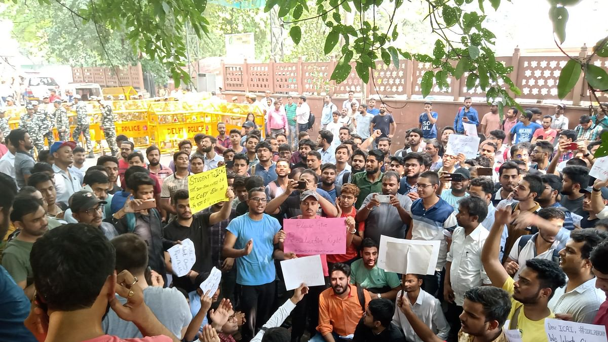 ICAI students protest across states, demand reforms in evaluation