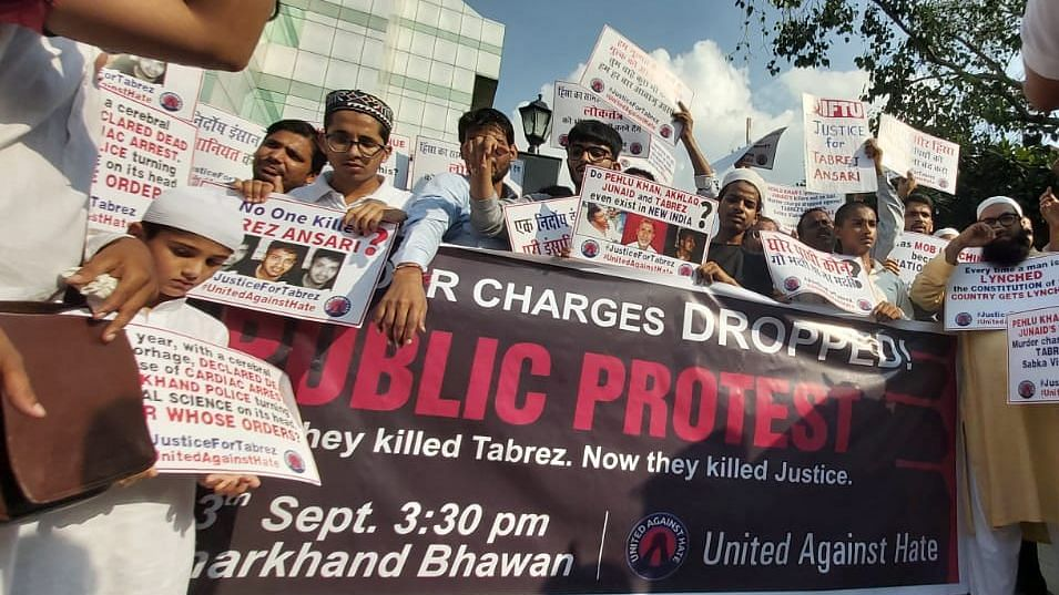 Protest held to restore murder case in Tabrez Ansari lynching case