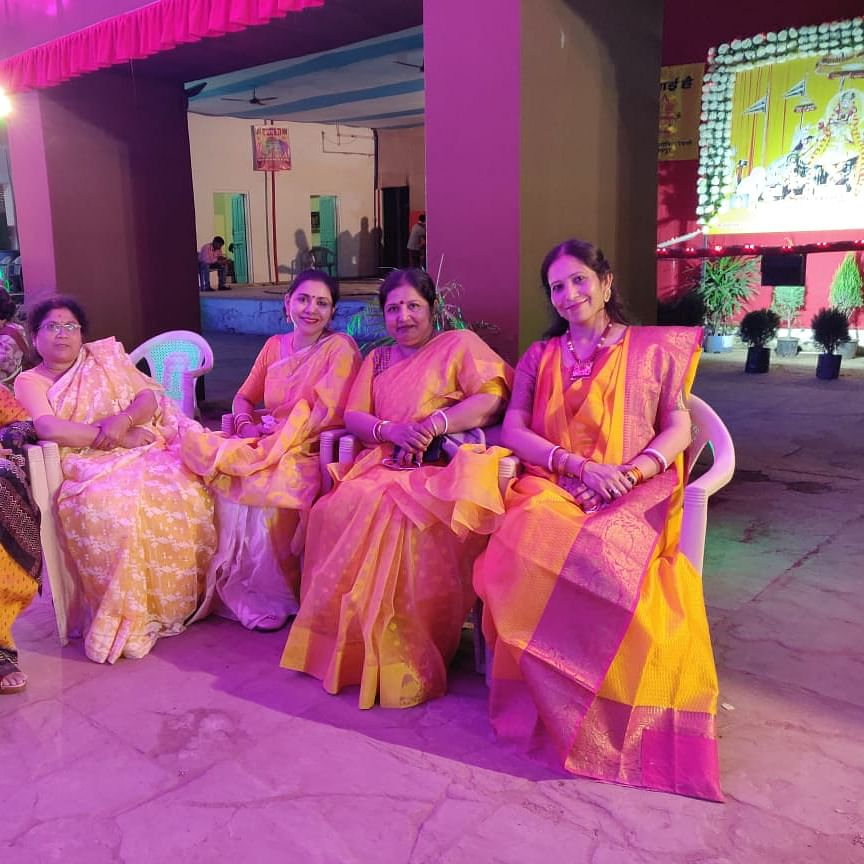 Mahila Samiti of Jaipur's oldest Puja, Durgabadi, which has taken over the mantle of handling most cultural programmes, funding it themselves, owing to economic crisis. (NH Photo)