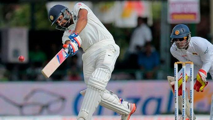 Vizag Test: Rohit ton helps India dominate rain-hit opening day