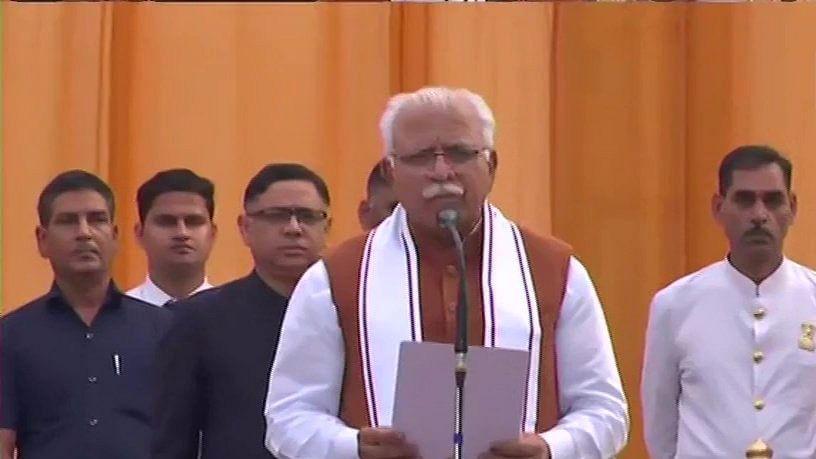 Khattar takes oath as Haryana CM for second term