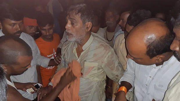 WATCH: BJP MP Ram Kripal Yadav falls into a river near Patna, later rescued