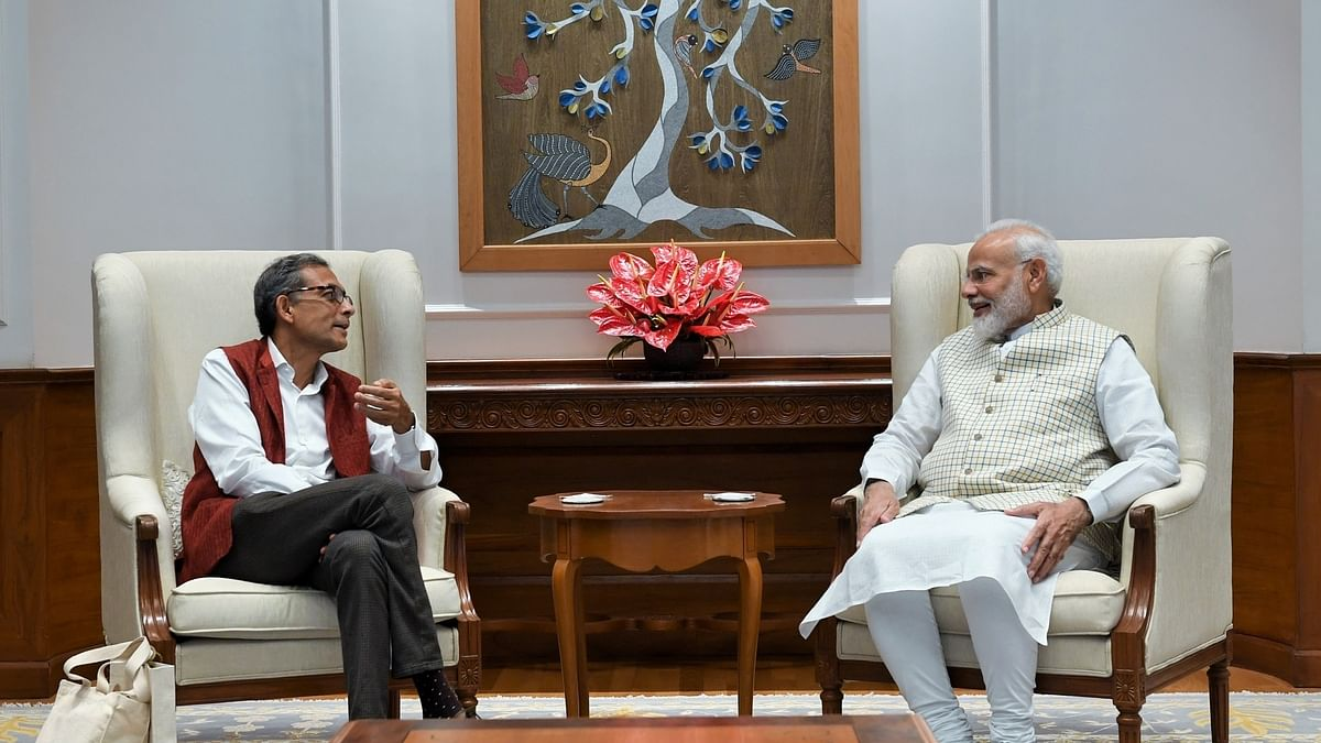 PM meets Abhijit Banerjee, says India proud of his accomplishments
