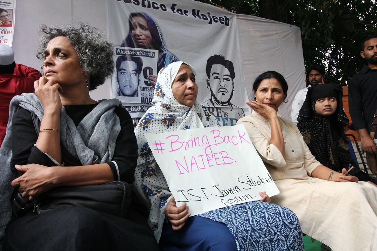Arundhati Roy, Fatima Nafis, Kavita Lankesh and Shaista Parveen, NH Photo by Vipin