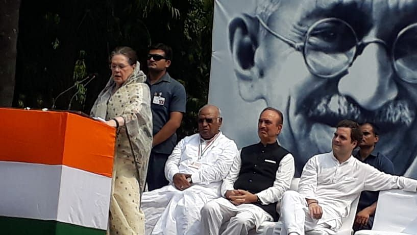 Sonia Gandhi takes a dig at BJP, says it's easy to name Gandhi, tough to follow his principles