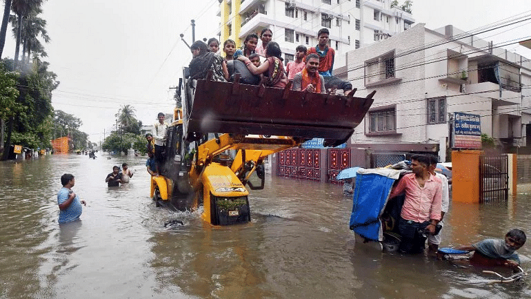 Why was  RSS missing in action during  deluge in Patna? Why didn't they rescue Sushil Modi?