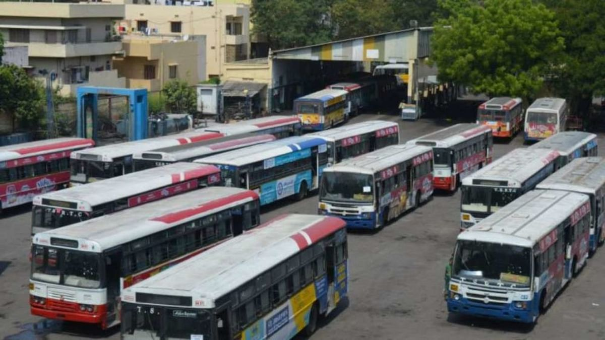 Buses go off in Telangana as TSRTC strike begins