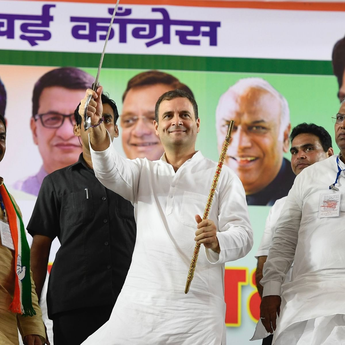 Congress leader Rahul Gandhi at an election rally in Chandivali, Mumbai, on October 13, 2019 (Photo courtesy: AICC)