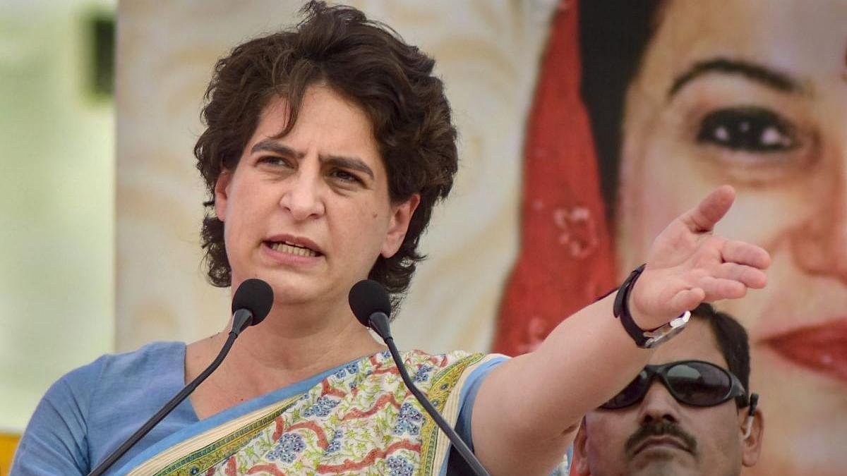 In jungle raj, safety of women in God's hands: Priyanka slams UP govt