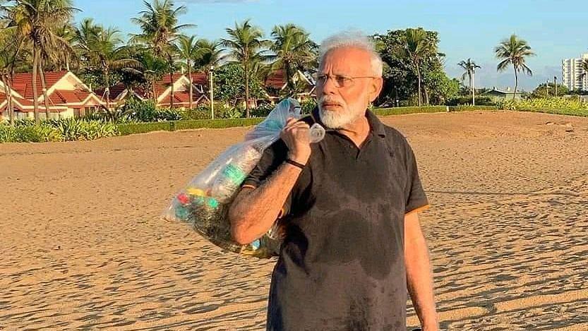 Congress takes swipe at Modi plogging on beach at Mamallapuram