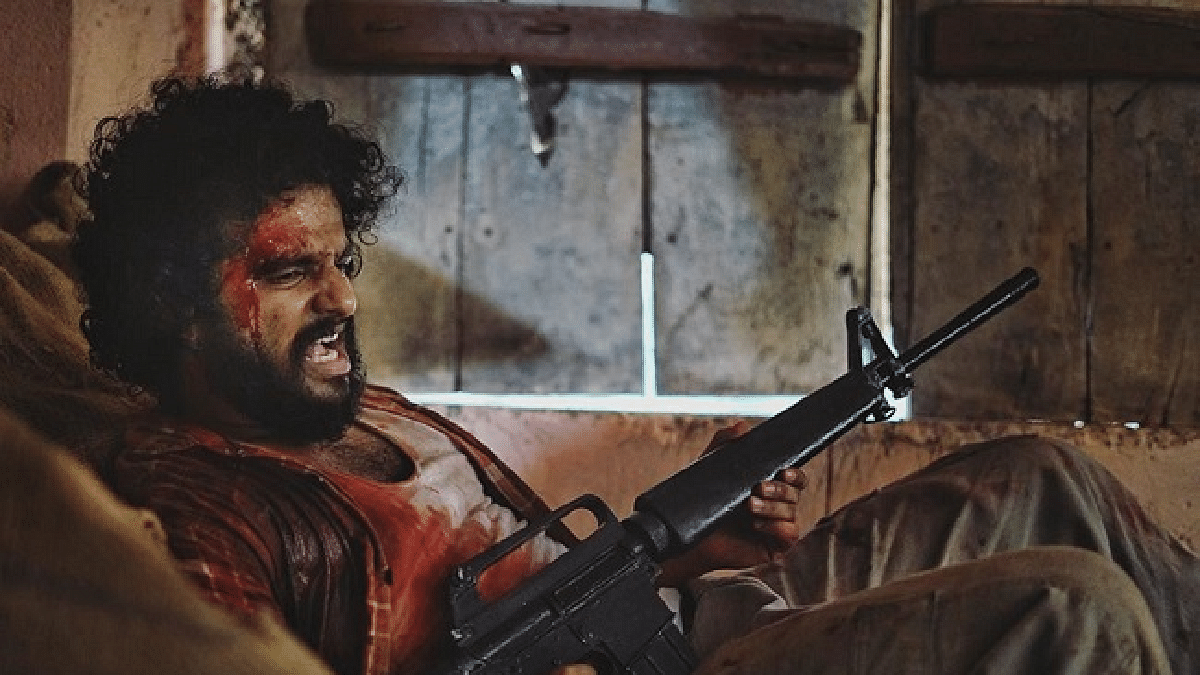 Neerav Madhav playing the role of a Muslim terrorist