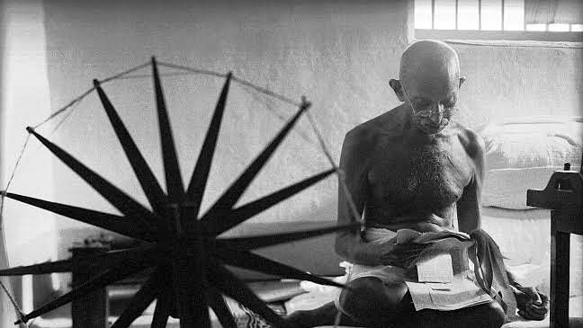Mahatma and the spinning wheel