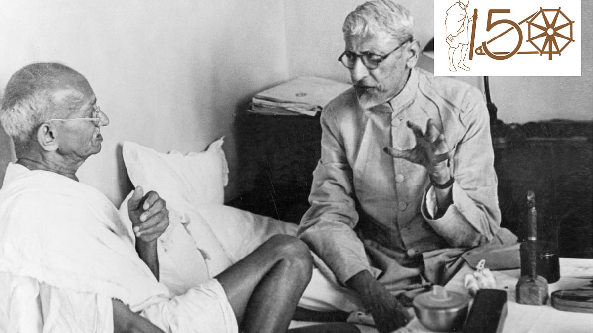 Mahatma Gandhi and Maulana Abul Kalam Azad shared a warm camaraderie