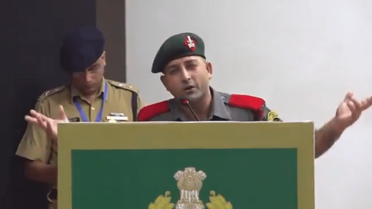 Why have TV channels blacked out this video of a Jawan of Assam Rifles ?