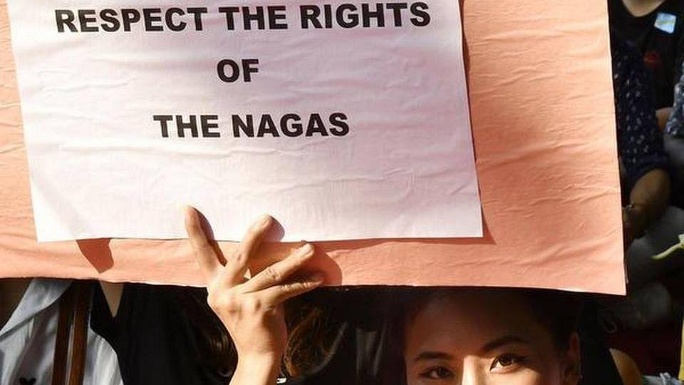 Nagaland people protest (Photo courtesy: social media)