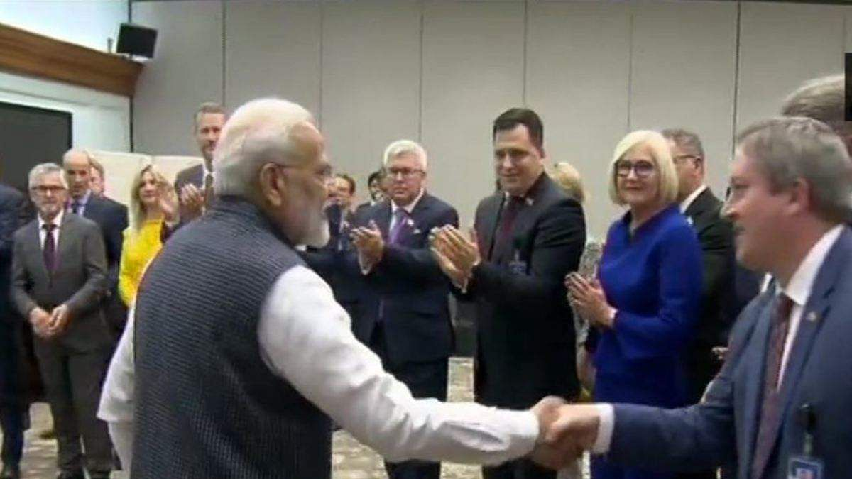 PM Modi the EU MP delegation in New Delhi.