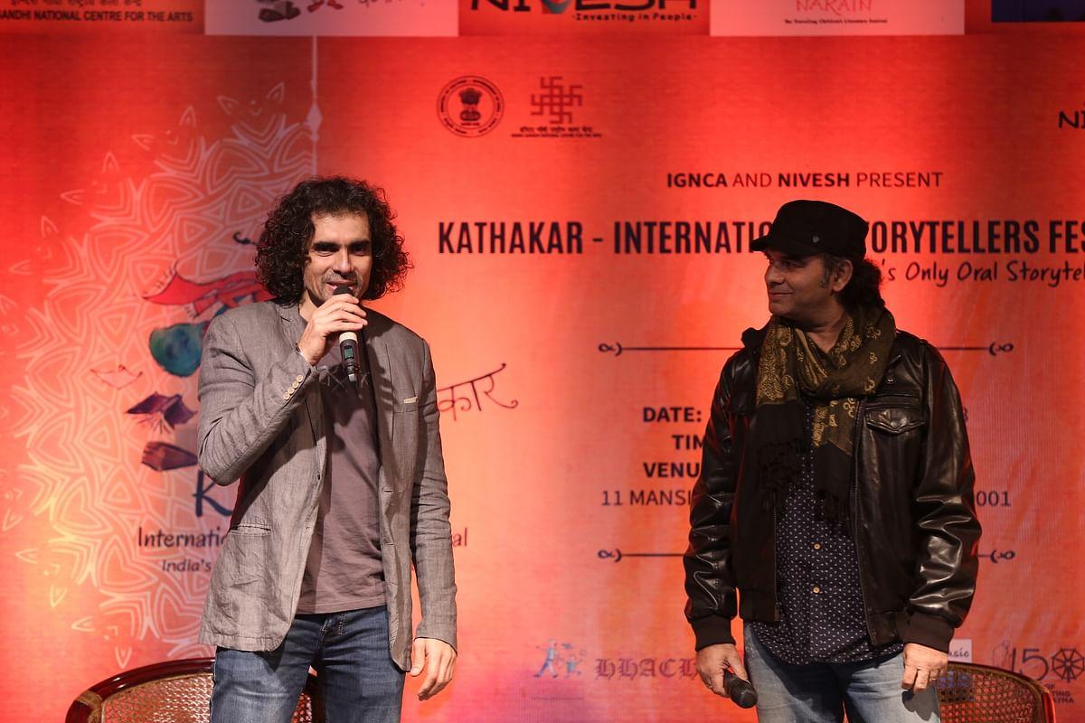 Filmmaker Intiaz Ali and singer Mohit Chauhan at Kathakar festival 2018