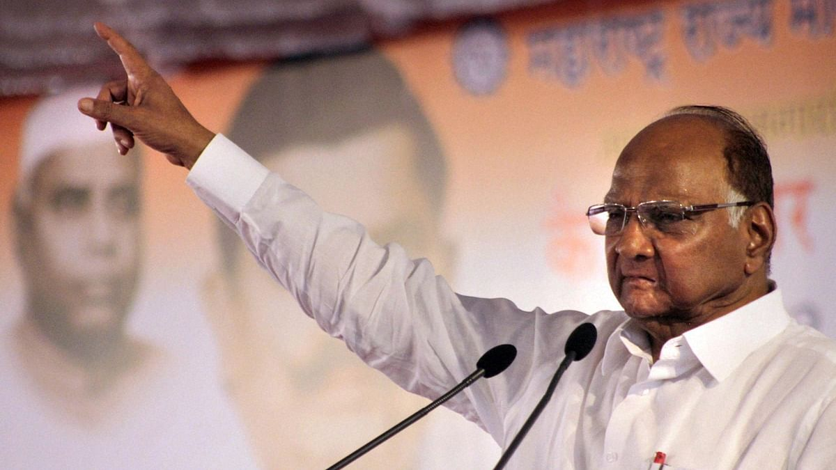 Nationalist Congress Party (NCP) chief Sharad Pawar (File photo, PTI)