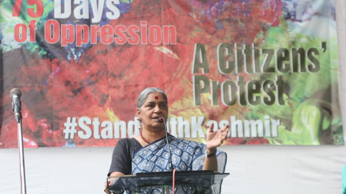 NFIW General Secretary Annie Raja addresses the gathering during the protest at Jantar Mantar on Saturday.