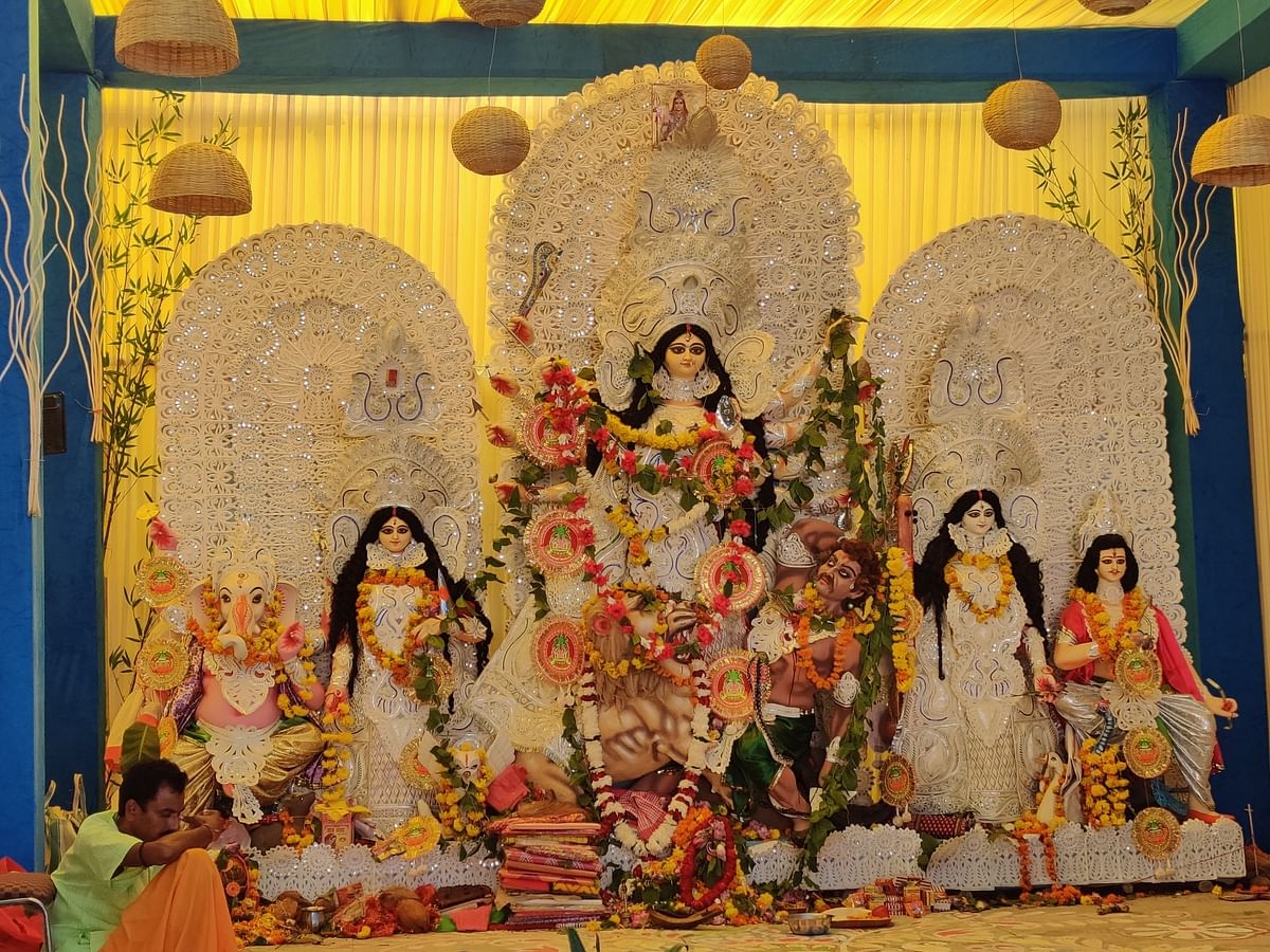 The eco friendly  Durga Puja celebration in this pandal in Delhi is an inspiration