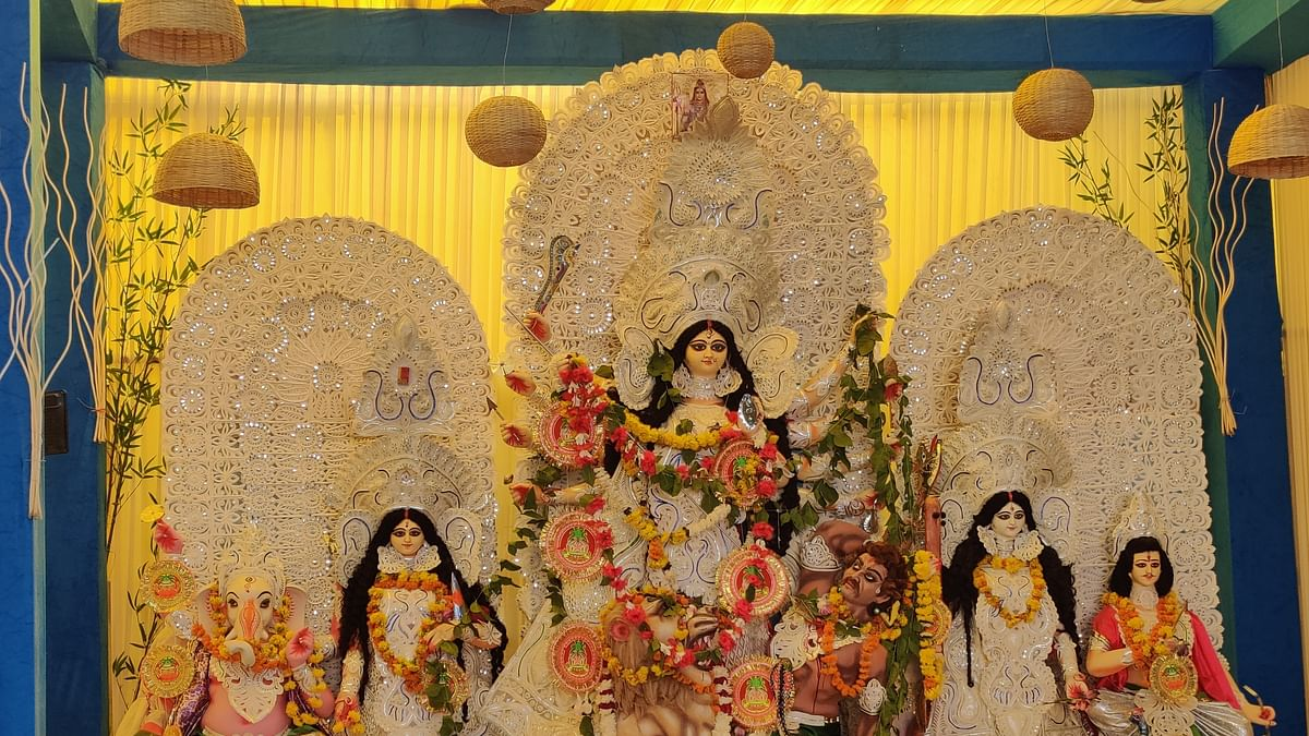Eco-friendly Durga Puja organised by Pusa Bangiya Sangeet Sabha in Pusa Institutes, New Delhi