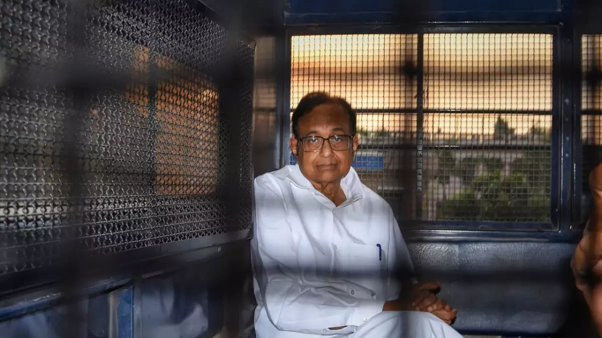 Former Union finance minister P Chidambaram