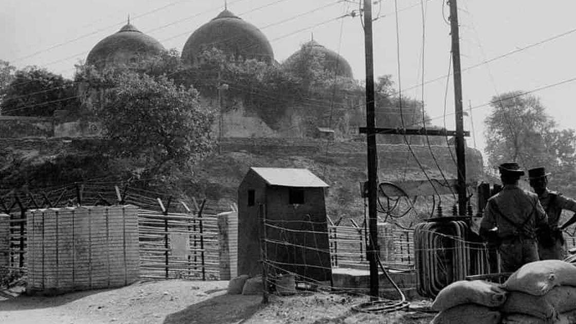 A file photo of the Babri Masjid structure