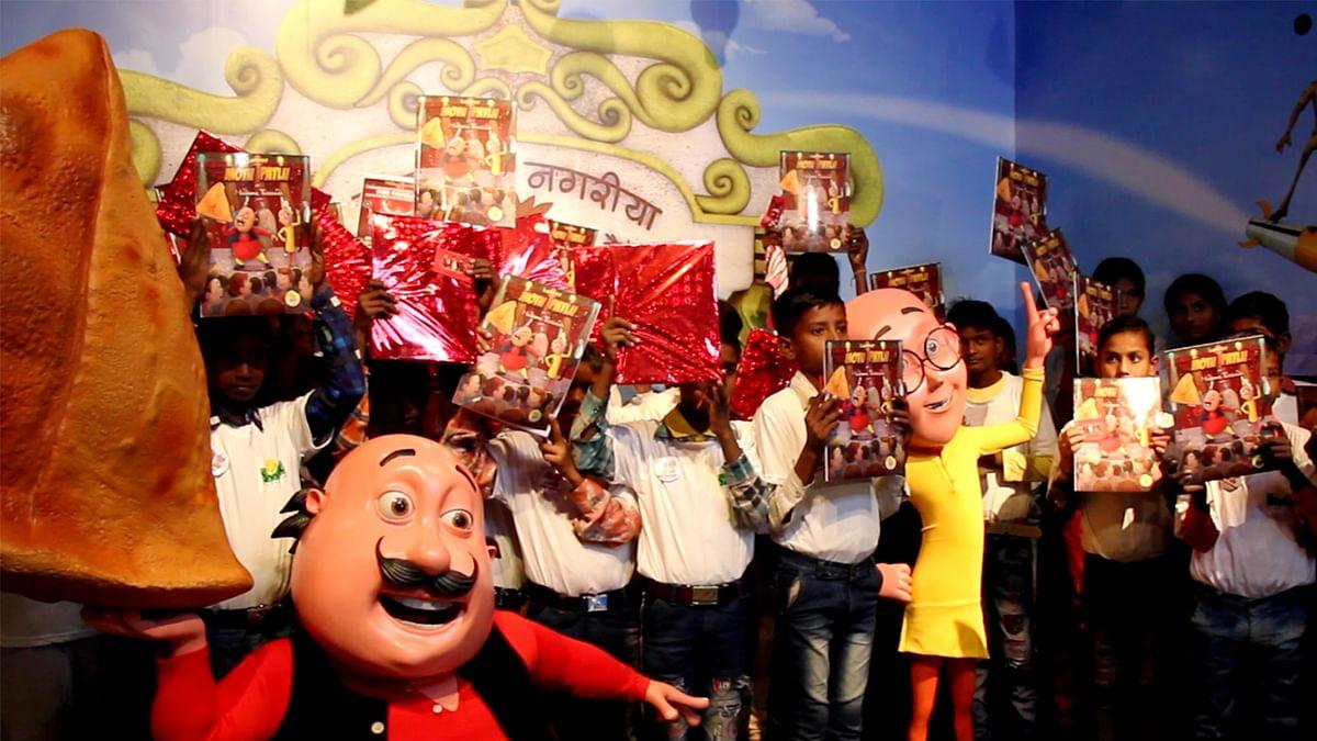 Motu Patlu's comic book series titled 'Motu Patlu in Madame Tussauds' launched at Madame Tussauds in Delhi