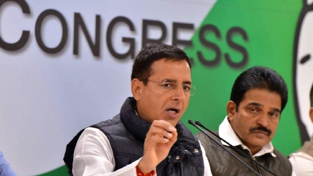 Congress leader Randeep Singh Surjewala and party General Secretary KC Venugopal