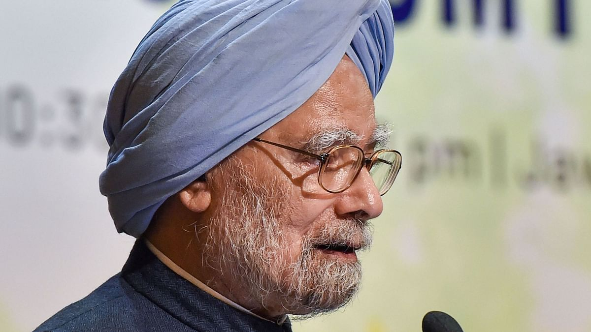 Former PM Manmohan Singh delivering the valedictory address at National Economy Conclave organised by Rajiv Gandhi Institute for Contemporary Studies in New Delhi, on Friday, Nov 29, 2019.